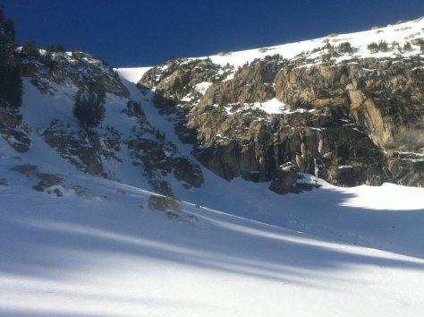 Spoon couloir from Amphitheater Lake