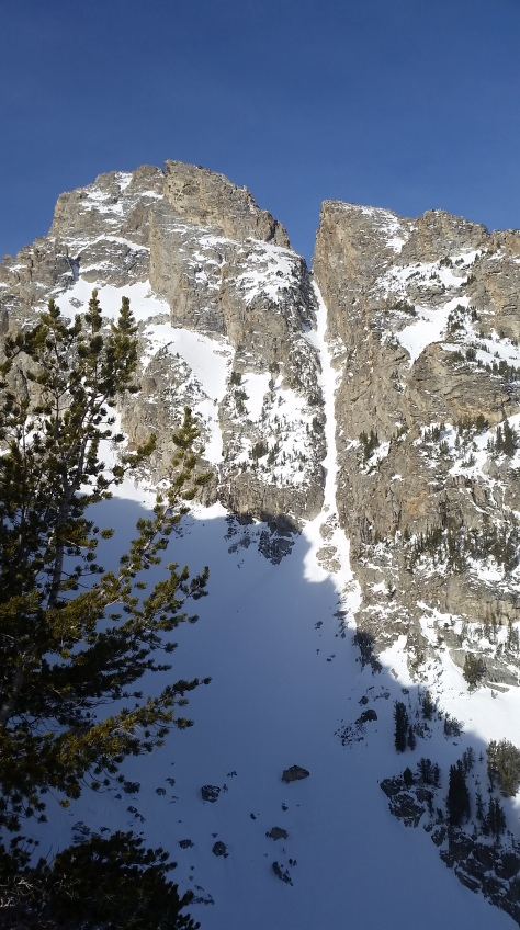 Sliver Couloir from Shadow Peak