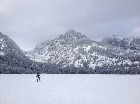 XC Skiing across Taggart