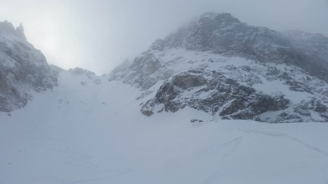 "The Northeast "" Couloir off Wister."