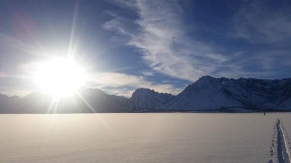 Views of the Tetons from Jackson Lake.