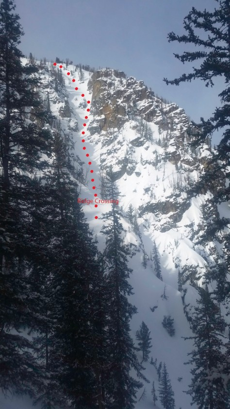 Alternative entry couloir into Son of Apocalypse.