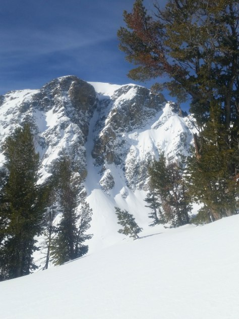 "The ""V Notch Couloir""."