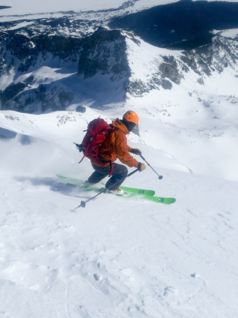 Tristen, skiing of the summit.
