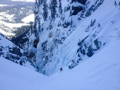 Trist, making his way into the crux.
