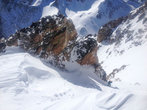 The entry into the Amora Vida Couloir.