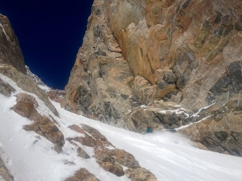 Beautiful couloir. (photo: Dane Etter-Garrette)