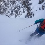 First turn on the steep upper pitch. (photo: Dane Etter-Garrette)