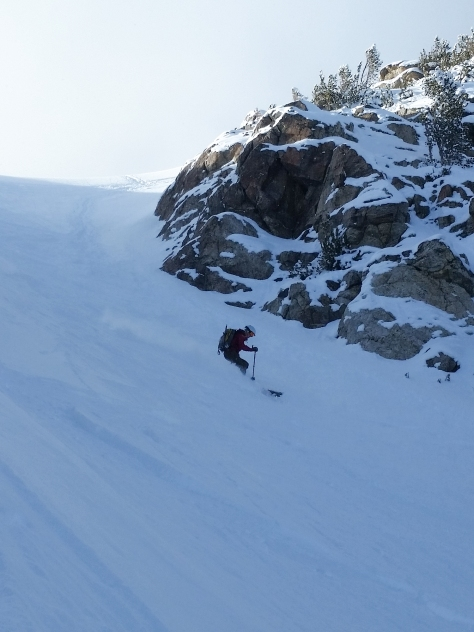 Zelie making some turns in the upper section.
