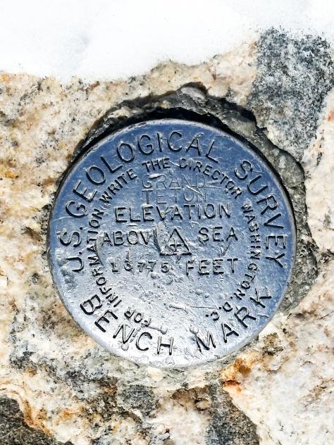 USGS Marker, Grand Teton 13775'